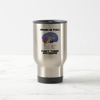 Brain Is Full Can't Think Anymore (Brain Anatomy) Travel Mug