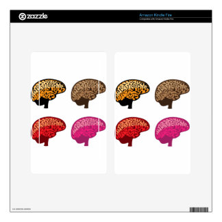 Brain Kindle Fire Decals