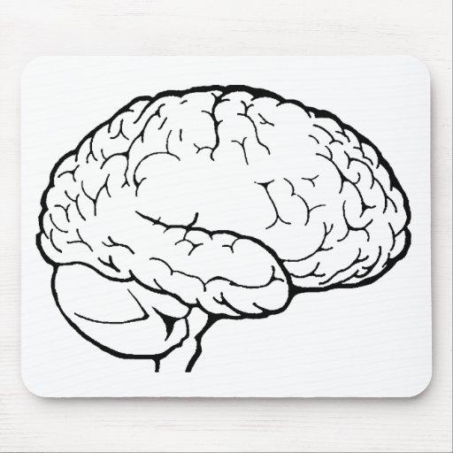 Line Art Brain : Brain line art mousepad zazzle
