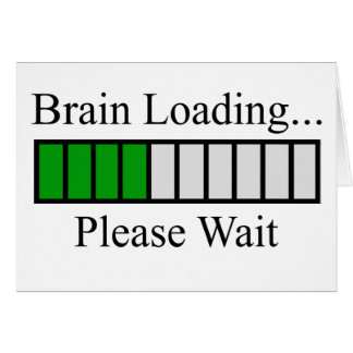 Brain Loading Bar Card