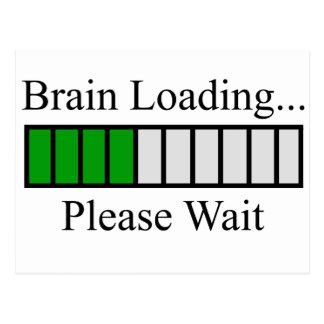 Brain Loading Bar Postcard