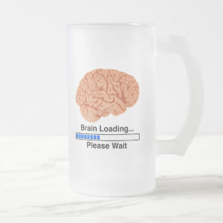 Brain Loading Frosted Glass Beer Mug