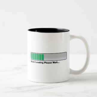 Brain Loading Please Wait... Two-Tone Coffee Mug