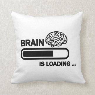 Brain loading throw pillow
