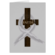 Brain & Lung Cancer Faith Cross-Gray Ribbon Card