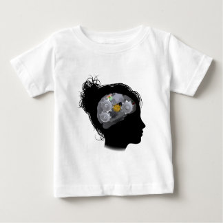 Brain Machine Workings Gears Cogs Woman Baby T-Shirt