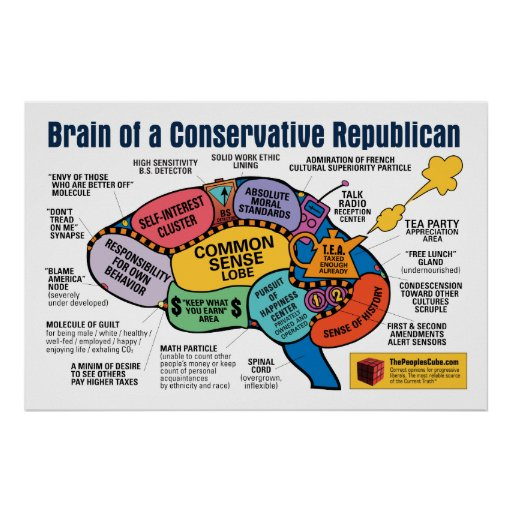 Brain Map - Capitalist Republican Poster
