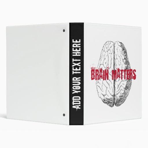 Brain Matters Funny Geek School Binder