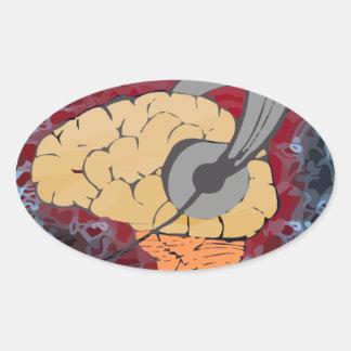 Brain music stickers