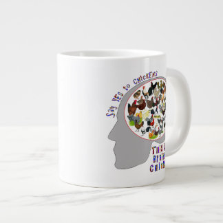 Brain On Chickens Large Coffee Mug