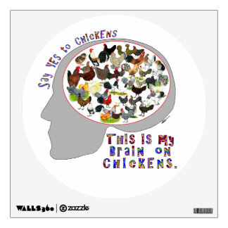 Brain On Chickens Wall Decal