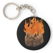 brain on fire keychain