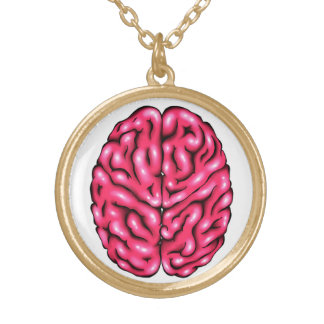 """""""Brain On Love"""" Gold Plated Necklace"""