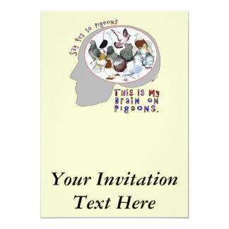 Brain On Pigeons Card
