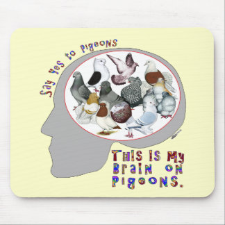 Brain On Pigeons Mouse Pad