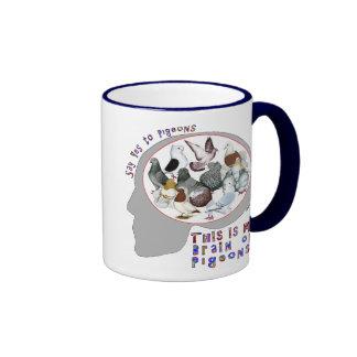 Brain On Pigeons Coffee Mugs