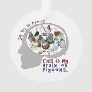Brain On Pigeons Ornament