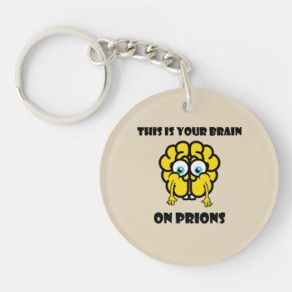 Brain on Prions Keychain