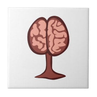 Brain On Stand Small Square Tile