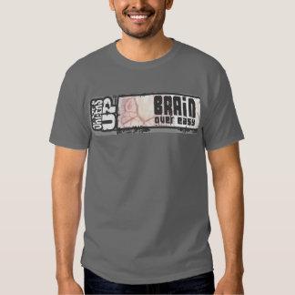 brain over easy tee shirt