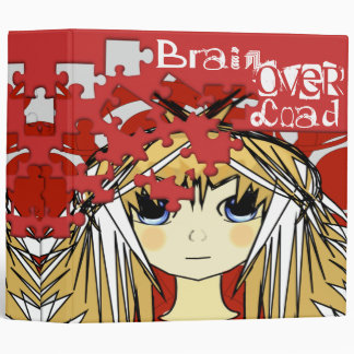 Brain Over Load Cute Anime Girls Binder