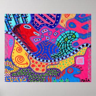 Brain Plane 01 Abstract Art Poster