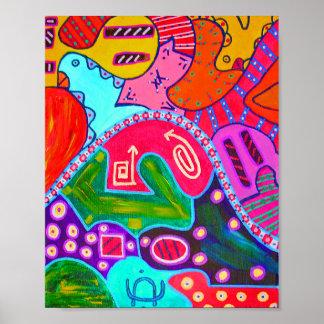 Brain Plane 3 Abstract Art Mini Poster