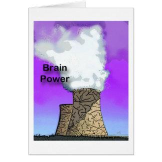 Brain Power Greeting Card
