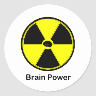 Brain Power Classic Round Sticker