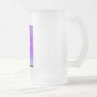 Brain Power Frosted Glass Beer Mug