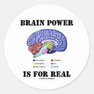 Brain Power Is For Real (Brain Anatomy Attitude) Classic Round Sticker