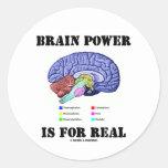 Brain Power Is For Real (Brain Anatomy Attitude) Round Sticker