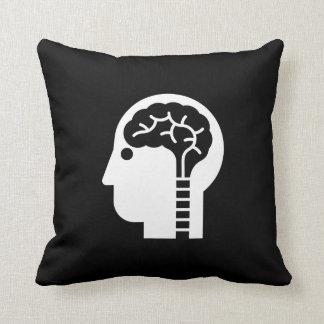 Brain Power Pictogram Throw Pillow