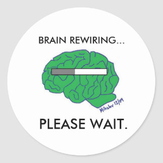 """BRAIN REWIRING"" stickers"