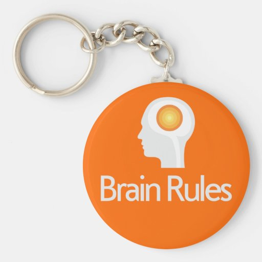 Brain Rules! Gray Head Version Keychain