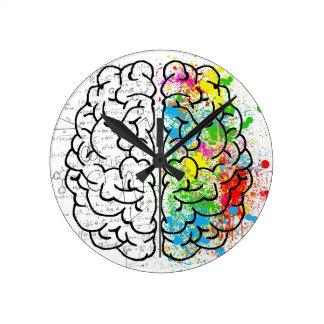 brain series round clock