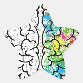brain series star sticker