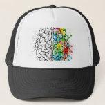 "brain series trucker hat<br><div class=""desc"">Crazy brain series.</div>"