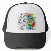 brain series trucker hat
