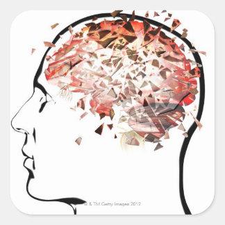 Brain Shattering Square Sticker