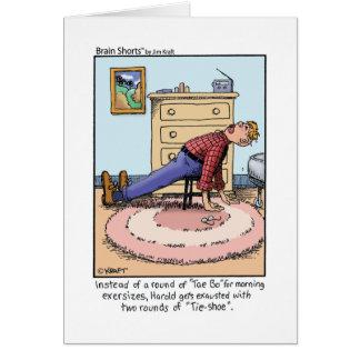 """Brain Shorts """"Tae Bo"""" by Jim Kraft Greeting Card"""