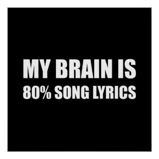Brain Song Lyrics Poster