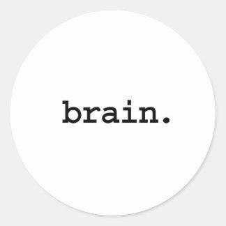 brain. round sticker