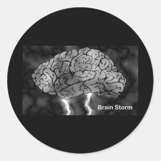 Brain Storm Classic Round Sticker