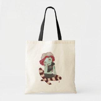 Brain Storming - Zombie girl tote Bags