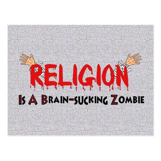 Brain-Sucking Zombie Postcards