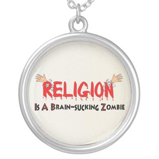 Brain-Sucking Zombie Round Pendant Necklace