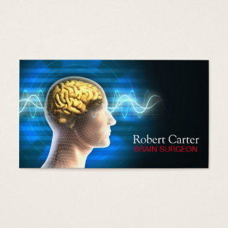 Brain Surgeon / Psychologist Human Head Body Business Card