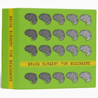 Brain Surgery for Beginners - Neon Green Binder