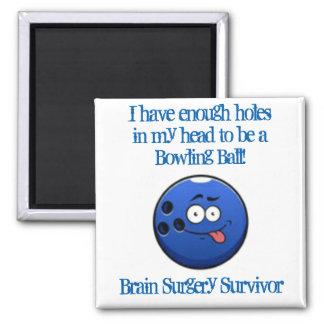 Brain Surgery Survivor 2 Inch Square Magnet